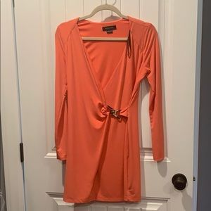 Marciano Orange Longsleeve Cocktail Dress